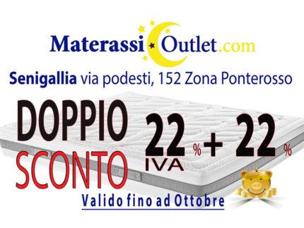 Materassioulet.com - Doppio sconto 22% + 22%