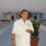 Fred Bongusto alla riapertura della Rotonda a Mare di Senigallia nel luglio 2006 - Foto Andrea Giuliani