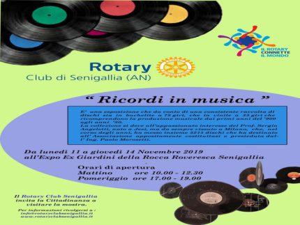 """Locandina della mostra """"Ricordi in musica"""""""