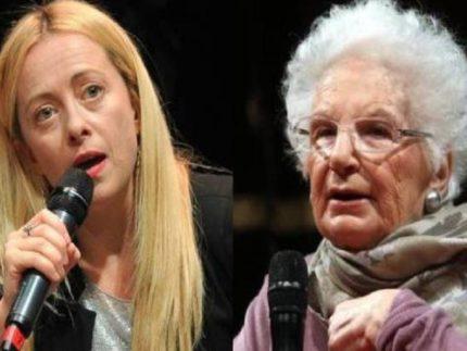 Giorgia Meloni e Liliana Segre