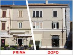 Riqualifica edificio storico a Senigallia con prodotti forniti da Caparol Marche Color 2