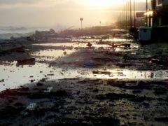 Strade allagate a Marina