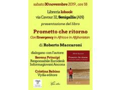 """Presentazione del libro """"Prometto che ritorno. Con Emergency in Africa e in Afghanistan"""""""