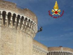Sopralluogo dei Vigili del Fuoco alla Rocca Roveresca