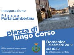 Piazza Lambertina, inaugurazione