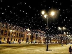 coreografie luminose natalizie di Senigallia