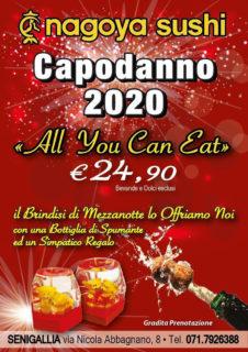 Capodanno 2020 al ristorante Nagoya Sushi Senigallia