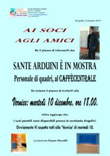 Sante Arduini in mostra al Caffè Centrale di Senigallia - locandina