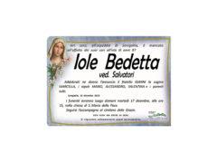 Necrologio Iole Bedetta