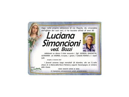 Necrologio Luciana Simoncioni