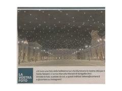 Le luci Natalizie di piazza Garibaldi finiscono sul Corriere della Sera