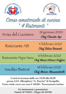 Corso di cucina amatoriale 4 Ristoranti - locandina