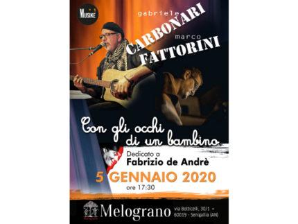 """""""Con gli occhi di un bambino"""", concerto dedicato a Fabrizio De Andre'"""