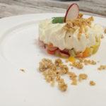 Mousse di robiola, crudité e crumble salato - Ricetta di Daniele Tantucci