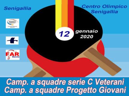 Tennistavolo Senigallia, impegni 12 gennaio 2020