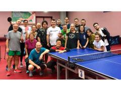 Appassionati e amatori al Centro Olimpico Tennistavolo