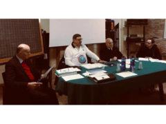 Leonardo Pazzani segretario, Stefano Ripanti Presidente Panathlon Club Senigallia, Luigi Innocenzi Governatore Distretto 5 Panathlon Emilia Romagna-Marche, Francesco Pallotta segretario