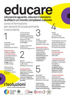 Educare: corso di formazione per docenti - locandina