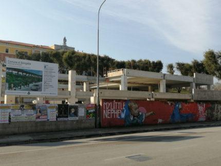 Parcheggio via Cellini, lavoro