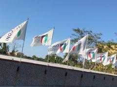 Bandiere Coni sul Centro Olimpico Tennistavolo