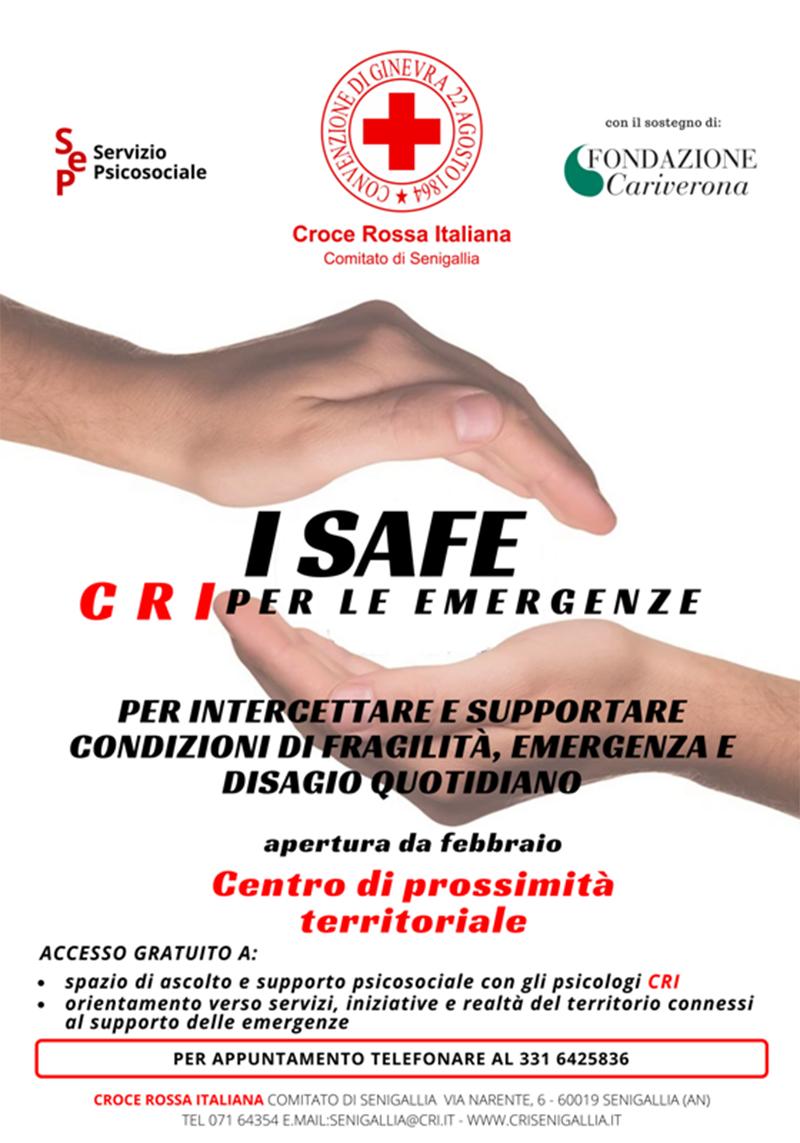 Progetto I SAFE - CRI per le emergenze - locandina