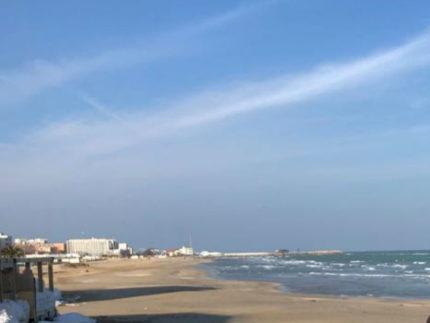 Spiaggia, lungomare di Pesaro
