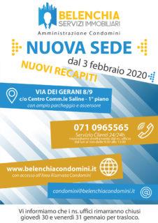 Belenchia Servizi Immobiliari di Senigallia - Dal 3 febbraio 2020 nuova sede e nuovi recapiti