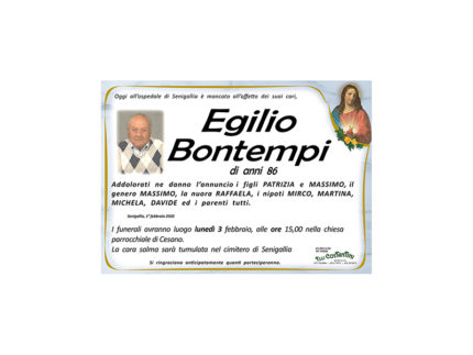 Egilio Bontempi necrologio