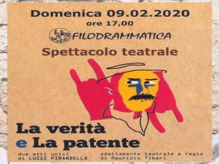 Locandina del doppio spettacolo teatrale in programma al Centro sociale Adriatico di Marzocca