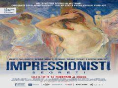 "Locandina del docu-film ""Impressionisti segreti"""