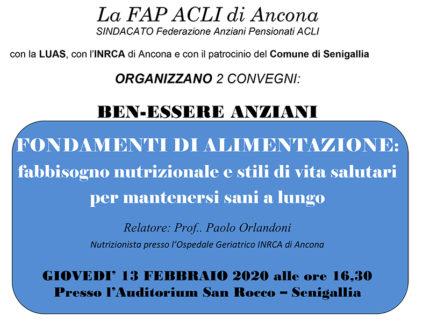 Ben-Essere Anziani: convegni FAP Acli