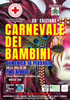 Carnevale dei Bambini 2020 organizzato dalla CRI di Senigallia - locandina
