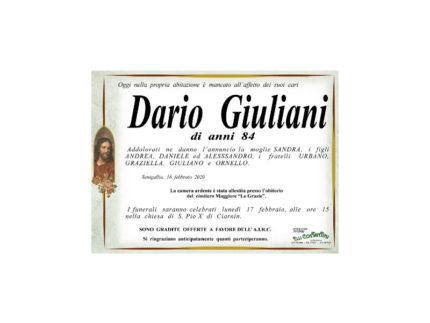 Necrologio Dario Giuliani