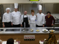 Pepe Nero al corso amatoriale di cucina del Panzini