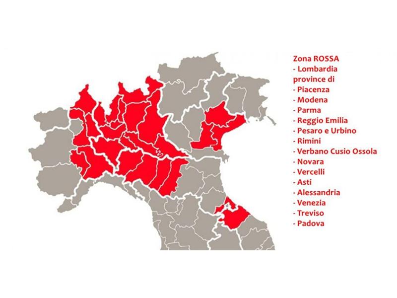 Cartina Italia Senigallia.Coronavirus Mappa Zona Rossa Definita L 8 Marzo 2020 Senigallia Notizie