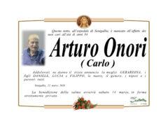 Necrologio Arturo Onori (Carlo