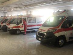 Ambulanza CRI Senigallia in supporto a Pesaro
