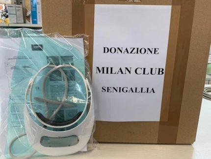 Donazione del Milan Club di Senigallia all'ospedale locale