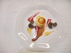 Semifreddo alla sapa con lonzino di fichi - ricetta ristorante AB Alberto Berardi