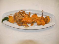 Rana pescatrice all'anconetana (tradizione di famiglia) - ricetta ristorante AB Alberto Berardi