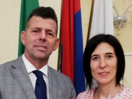 Maurizio Mangialardi e Ludovica Giuliani