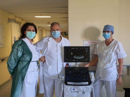 Ecografo donato al Pronto Soccorso dell'Ospedale di Senigallia dalla Banca di Credito Cooperativo di Ostra e Morro d'Alba