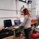 Isabelli Ottaviani, ingegnere clinico alle prese con l'aggiornamento di un ecografo