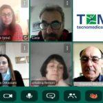 Cristina Ferroni, Vincenzo Marchetti, Claudia Marchetti, Luca Pompei, Isabella Ottaviani in una conference da remoto