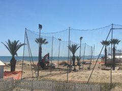 Lavori in corso negli stabilimenti balneari di Senigallia