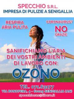 Specchio impresa di pulizie a Senigallia - Sanificazione ambienti di lavoro con ozono