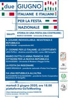 Dibattito sulla Festa della Repubblica Promosso dall'Associazione di Storia Contemporanea - locandina