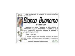 Necrologio Bianca Buonomo