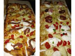 Le pizze alla pala dello Skizzo Bar di Senigallia