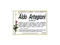 Necrologio Aldo Artegiani